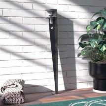 Pata de Mesa en metal Negro - adaptable a diferentes grosores