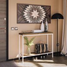 mesa cortina estrecha patas blancas