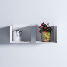 Estantes cubo blanco, Estanterías en Muebles Online