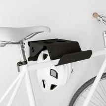 Soporte de Bicicletas de Pared Giratorio 26 cm - Negro en fondo blanco