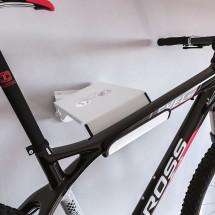 Soporte Bicicletas Pared Giratorio 42 cm metal Blanco - Bici y Casco