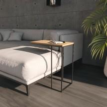 Mesa Auxiliar Sofía de color Roble Rústico - Para sofá