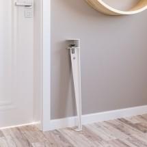 Pata de Mesa en metal Blanco - adaptable a diferentes grosores
