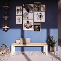 Mesa auxiliar de madera clara