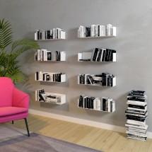 Estanterías metálicas libros salón para pared