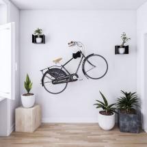 Soporte Bici Pared Giratorio 26 cm - Metal Negro - Bicicleta y Casco