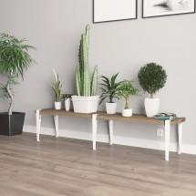 Pata de Mesa Banco en metal Blanco - Resistente