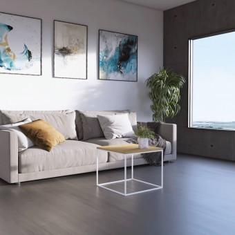Mesa Auxiliar Tymon de color Roble Miel - Para sofá