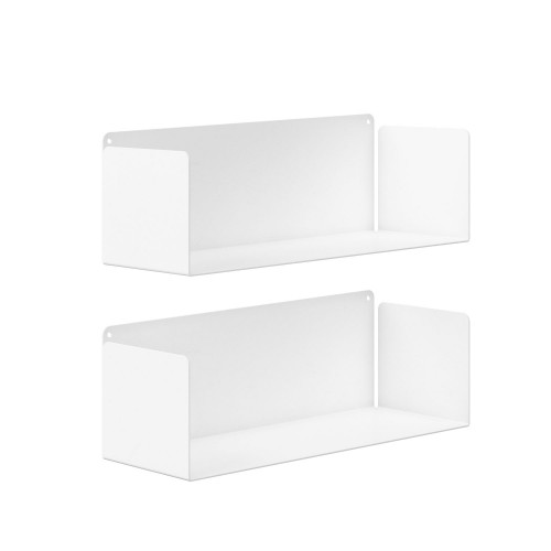 Estanterías minimalistas blancas