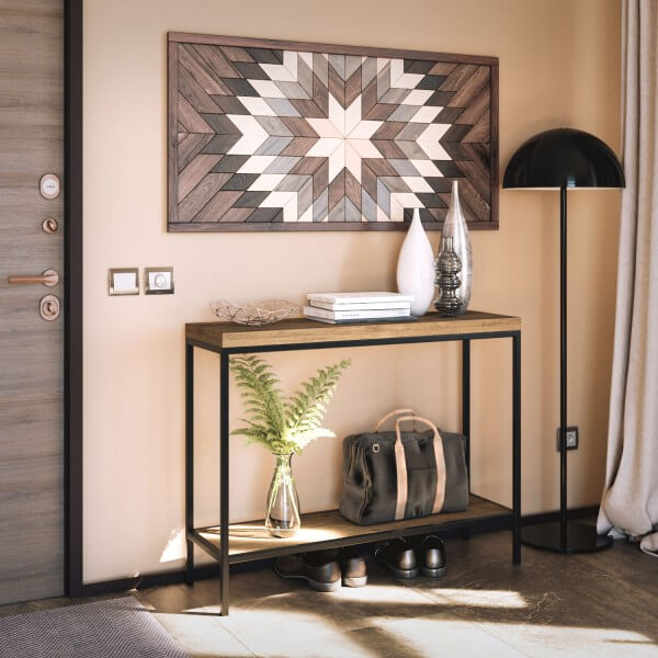 mesa cortina estrecha patas negras
