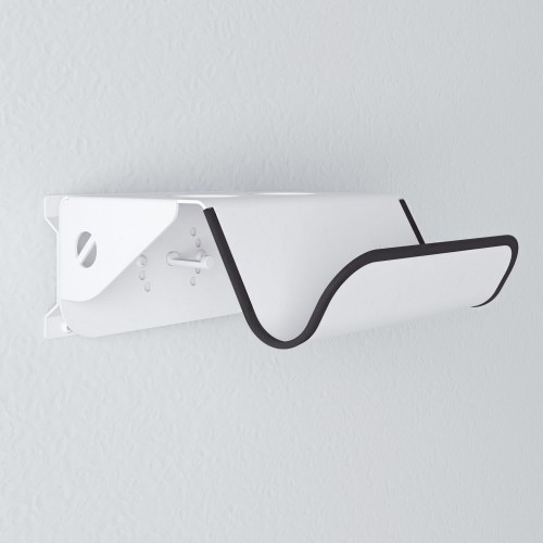 detalle Soporte Bici Pared Giratorio 26 cm - Metal Blanco - fondo blanco