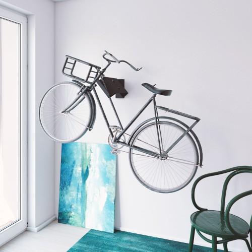 Soporte Bicicletas Pared Giratorio 42 cm metal Negro - Bici y Casco