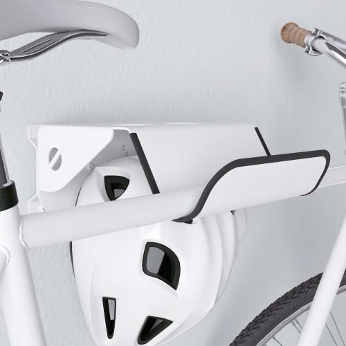 Soporte Bicicletas Pared Giratorio 26 cm metal Blanco - Bici y Casco