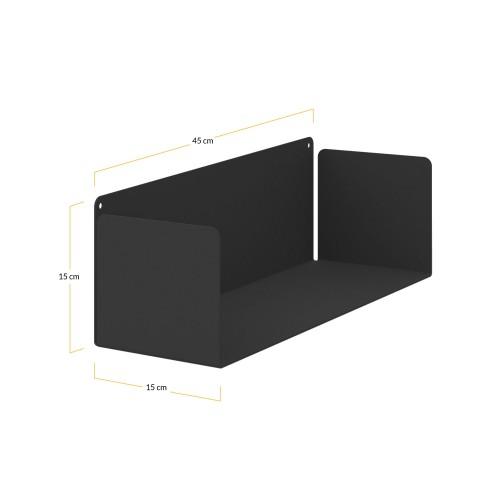 Medidas estantería negra - Muebles Online